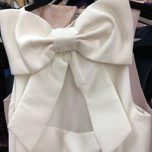 Bridal White Kate Spade big bow dress